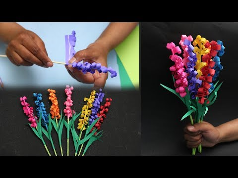 How To Make Paper Hyacinth Flowers - DIY Tutorial - DIY Crafts
