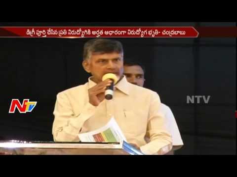 Chandrababu Naidu to Give Unemployment Benefit to Degree Graduates || NTV