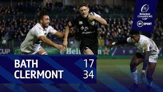 Bath vs Clermont (17-34) | Heineken Champions Cup Highlights