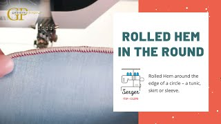Rolled Hem in the Round