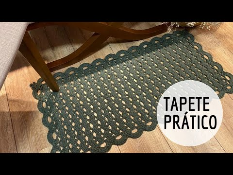 Tapete de Porta Prático em Crochê - Passadeira/Tapete de Cozinha/ Tapete de Sala - por Marcelo Nunes
