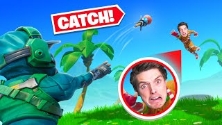 playing catch with my dad in fortnite