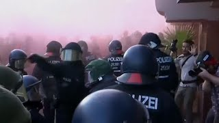 Protests break out in Germany ahead of G20 summit