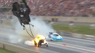 Cruz Pedregon Blows Up his NEW Funny Car body in Denver