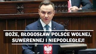 Takiego orędzia oczekiwali Polacy - Prezydent Andrzej Duda wygłasza jedno z najlepszych przemówień