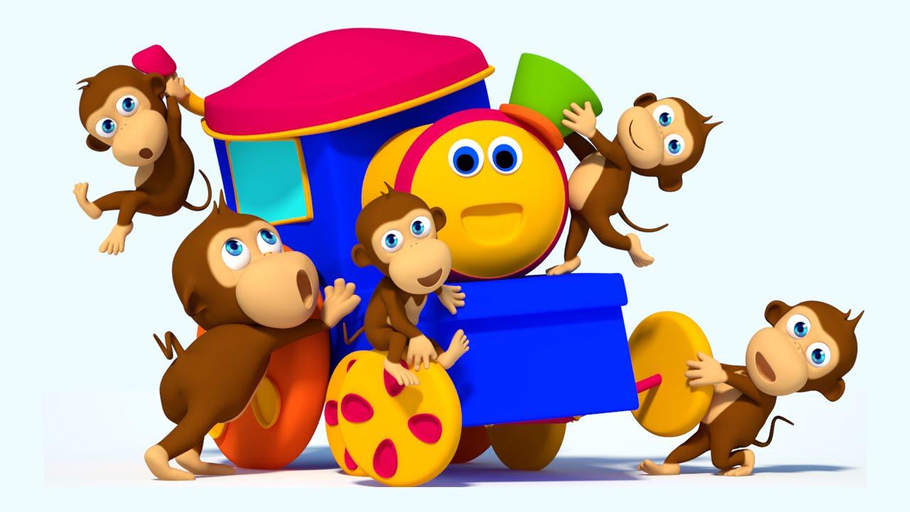 bob the train | five little monkeys jumping on the bed | monkey