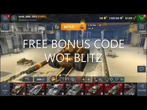 FREE BONUS CODE 2019 WOT BLITZ NA - Смотреть видео бесплатно