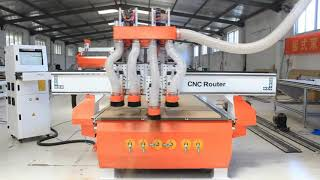 1325  three spindle  wood cnc router machine