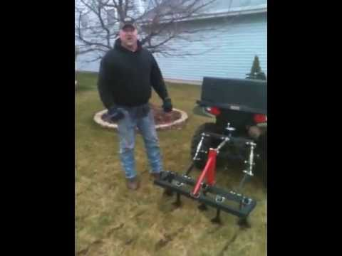 big buck tools atv chisel plow and 3 point hitch YouTube