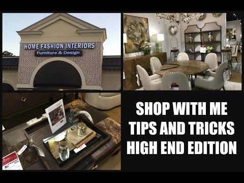 Home Decor Haul Shop with Me High End Luxury Furniture Shopping