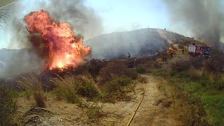 Bomberos Mijas- Incendio Forestal rodea a los Bomberos en Cerrado del Aguila Agosto2014 by Lolo