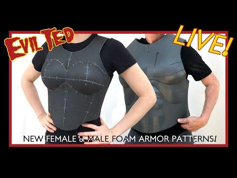 New Female & Male Foam Armor Patterns.