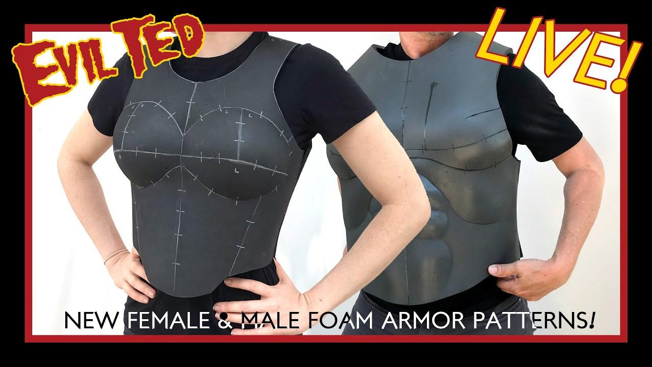 New Female Male Foam Armor Patterns Youtube