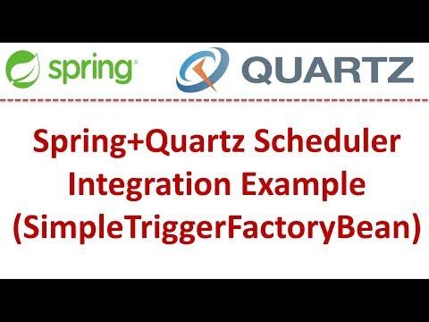 Spring+Quartz Scheduler Integration Example