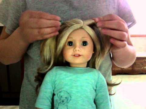 hair styles for american girl dolls hairstyles on my american doll ali 9679 | hqdefault