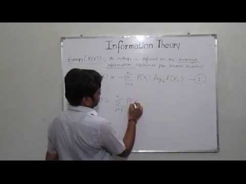 Lecture - 3 : Concept of Entropy in Information Theory