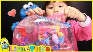 라임이의 공주해마 거품 어항세트 장난감 언박싱 ❤︎ LimeTube & Toys Play 라임튜브