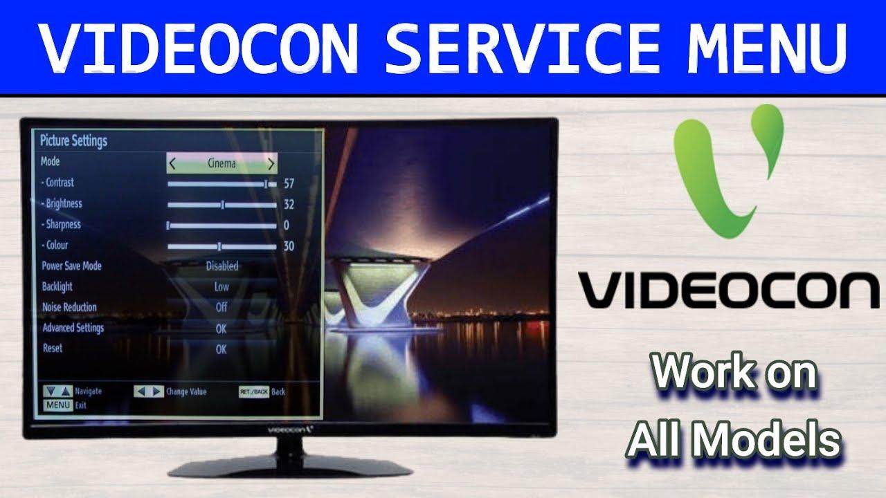 Videocon TV Service Menu Access | Opening Service Menu On Videocon TV and  Videocon LCD and LED TV - YouTube