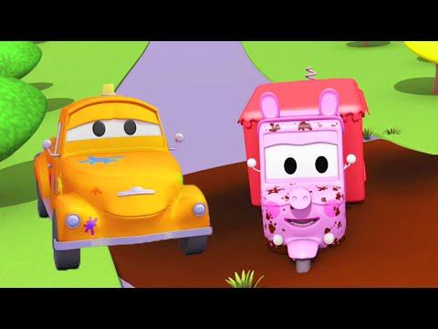 Carrie ist Peppa Wutz - Die Lackierwerkstatt von Tom dem Abschleppwagen | Auto Cartoons für Kinder