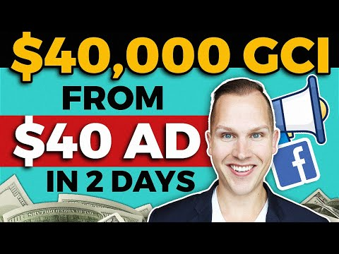 🔴 The BEST Facebook Ads for REAL ESTATE AGENTS | $40,000 from $40 Lead Ad in 2 Days [2020 TUTORIAL]