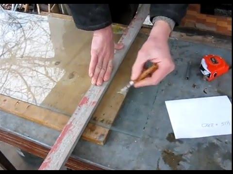 Как отрезать стекло
