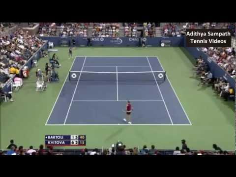 Bartoli vs Kvitova 2012 US Open Highlights