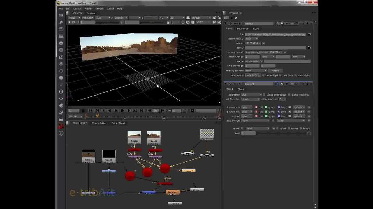 Tutoriel Nuke - Maya - Compositing 3D - Part 1