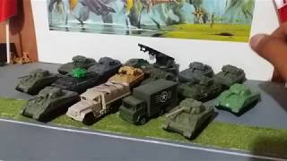 Tanques Matchbox Bradley, Sherman y Mas