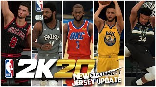 NBA 2K20   NEW NIKE STATEMENT JERSEYS UPDATE - A NEW SEASON IS HERE!