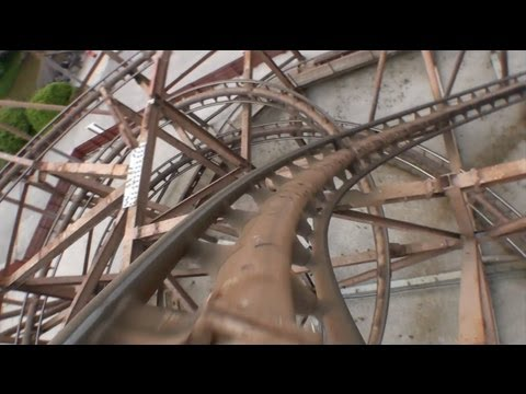Knightmare Roller Coaster POV Camelot Theme Park UK Front Seat On-Ride