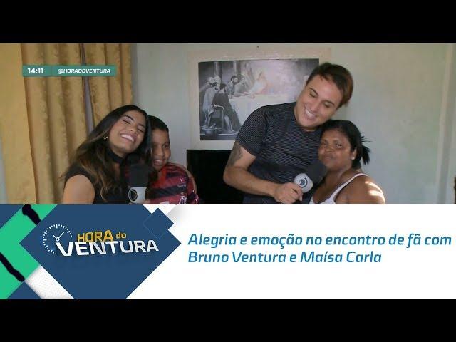 Alegria e emoção no encontro de fã com Bruno Ventura e Maísa Carla- Bloco 01