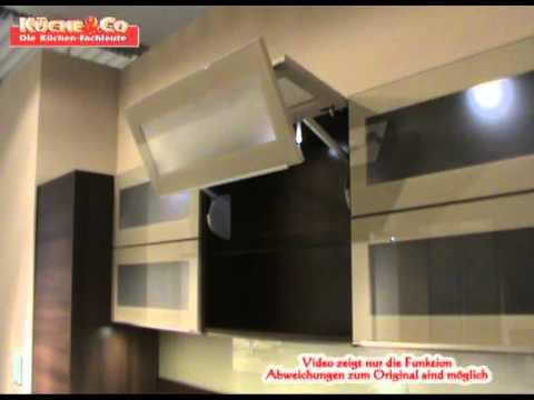 KcheCo Hngeschrank mit Glas Faltlifttrwmv  YouTube