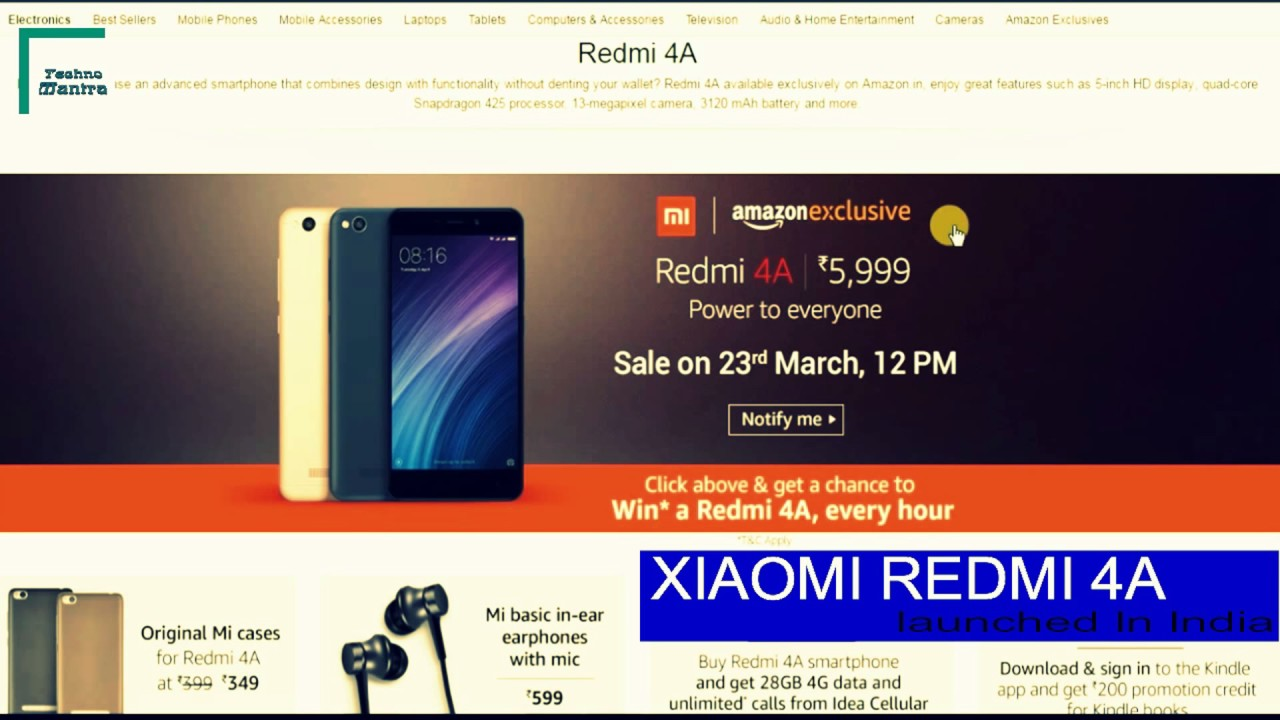 xiaomi redmi 4a full specs features review and price