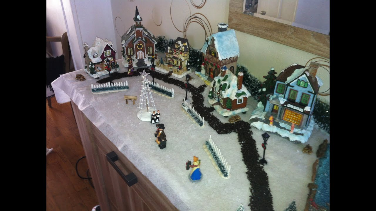 Tuto comment realiser un village miniature de noel 2012 youtube - Fabriquer un support pour village de noel ...