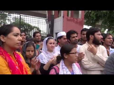 Former JNUSU President Akbar talks at JMI Students' Protest