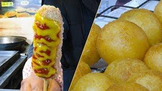 [서울 강남] 생활의 달인,  핫도그 찹쌀 도너츠 만들기 달인 / Hot dog, Glutinous rice Donuts / 6,000원 / 4K 영상 / 디저트 / 서울  맛집