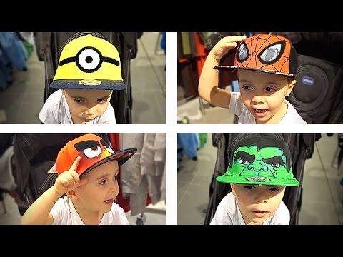 Minions, Homem Aranha, Angry Birds e Hulk - Bonés de Méida
