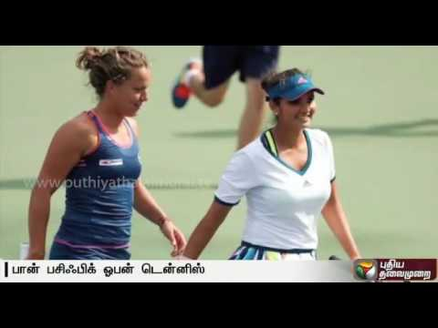 Sania Mirza and Barbora Strycova win women's doubles champions at Pan Pacific Open