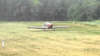 ken robbers and girlfriend taking off in sonex viking aircraft engine for sport type aircraft