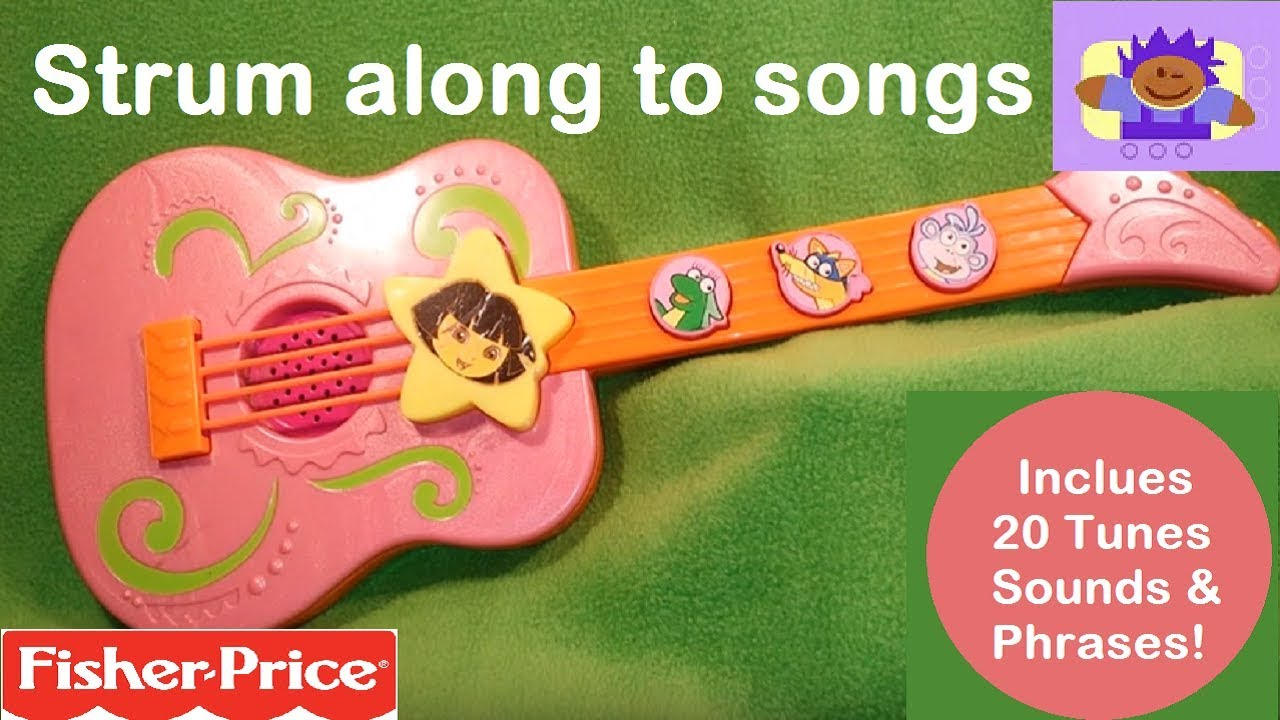 2009 Fisher-Price Dora the Explorer tunes guitar toy