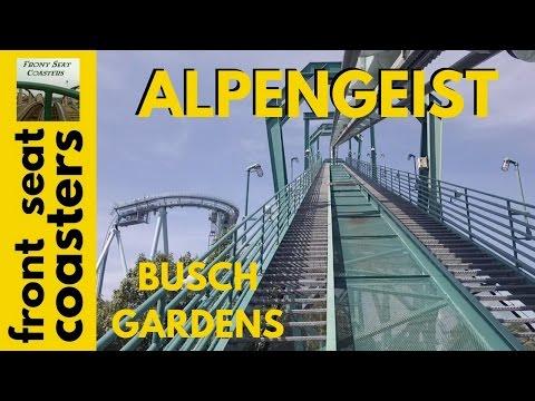 Alpengeist Pivothead POV Busch Gardens Williamsburg Front Seat Roller Coaster On-Ride B&M Invert