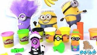 Пластилин Плей До на Русском Play Doh Minions Миньоны из Мультика Гадкий Я. Пластилин для Детей