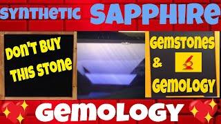 Zaffiro Sintetico - Synthetic Sapphire Verneuil - Gemstones Gemology 6