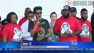 Jay-Z Makes Suprise Appearance at Trayvon Martin Peace Walk