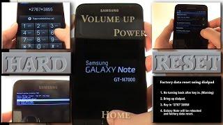 Samsung Galaxy Note Hard Reset (Factory Reset)