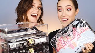 Swapping Makeup Bags with Bonnie Hoellein 😂