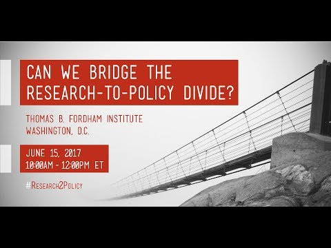 Can We Bridge the Research-to-Policy Divide?