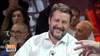SALVINI RISPONDE AL PUBBLICO DI DEL DEBBIO (DRITTO E ROVESCIO - RETE 4,12.09.19)