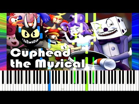 Cuphead the Musical (feat. Markiplier, NWTB & More) - Random Encounters [Synthesia Piano Tutorial]