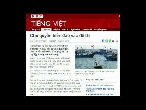 03.06.2012 - BBC Vietnamese - Chủ quyền biển đảo vào đề thi